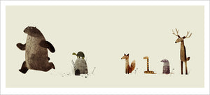 Print: Jon Klassen- I Want My Hat Back, Pg 21-22