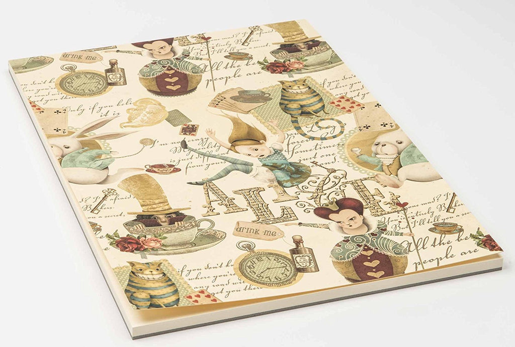 Luxury A4 notepad: Alice in Wonderland
