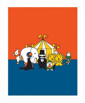 Miffy Circus Print by Dick Bruna
