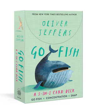 Oliver Jeffers: Go Fish: A 3-in-1 Card Deck: Card Games Include Go Fish, Concentration, and Snap