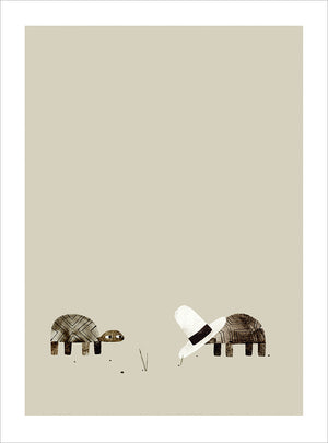 Print: Jon Klassen- We Found A Hat, Pg 14-15
