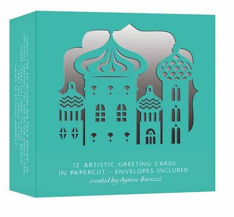 Greeting Cards: Box of 12, Papercut, created by Agnese Baruzzi