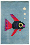 Chris Haughton Rug: Fish