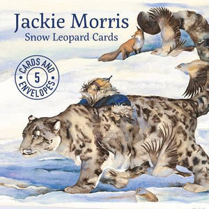 Jackie Morris: Snow Leopard Cards (Pack of 5 cards with envelopes)