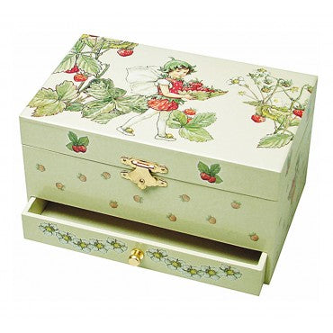 Musical Jewellery Box: The Flower Fairies, The Strawberry Fairy (with drawer)