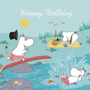 Moomin birthday card