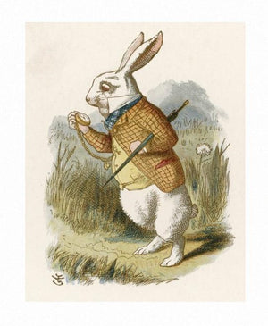 Lewis Carroll, Alice in Wonderland, the White Rabbit Print by John Tenniel