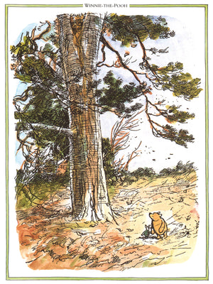 Winnie the Pooh Blusterous Day Print
