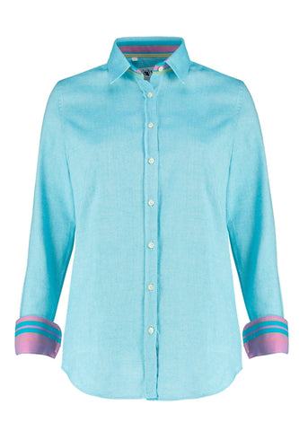 Kikoy Shirt - Turquoise Ladies Shirts Koy Clothing