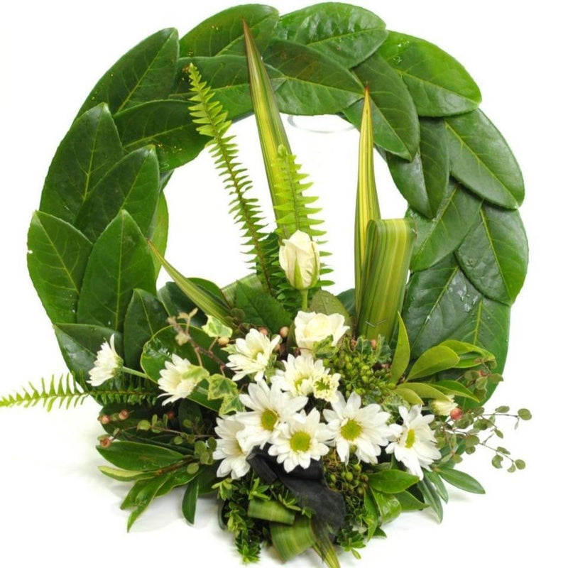 White Toned ANZAC Memorial Wreath