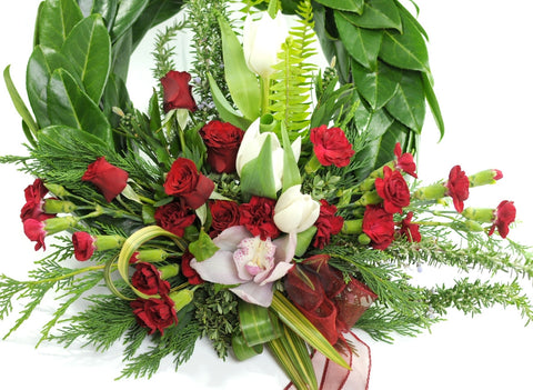 Red Toned ANZAC Memorial Wreath