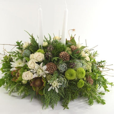 Florist's Choice: Contemporary Christmas Centerpiece.
