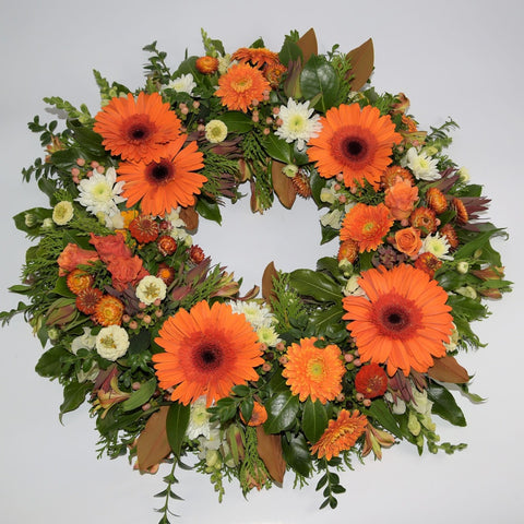Orange Toned Formal Wreath
