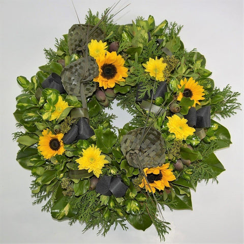 Yellow Toned Formal Wreath