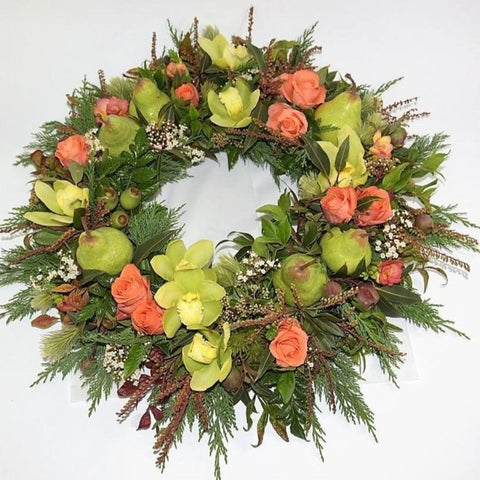 """Perfect Pear"" Formal Wreath"