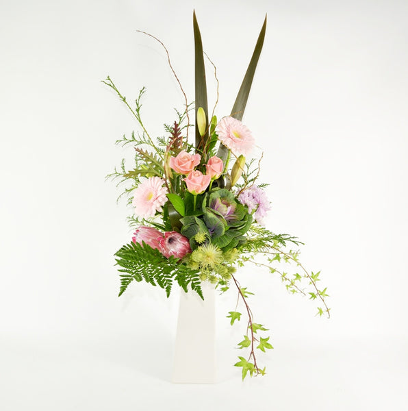 Lush Ceramic Vase Arrangement