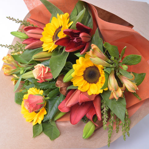 Florist Choice: Autumn shades in a Bouquet or Waterbox
