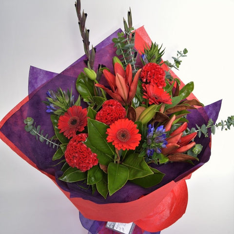 Florist Choice:  Red Bouquet or Waterbox
