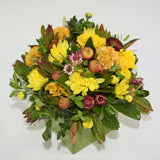 Florist choice: Autumn Tones Ceramic Cube Arrangement