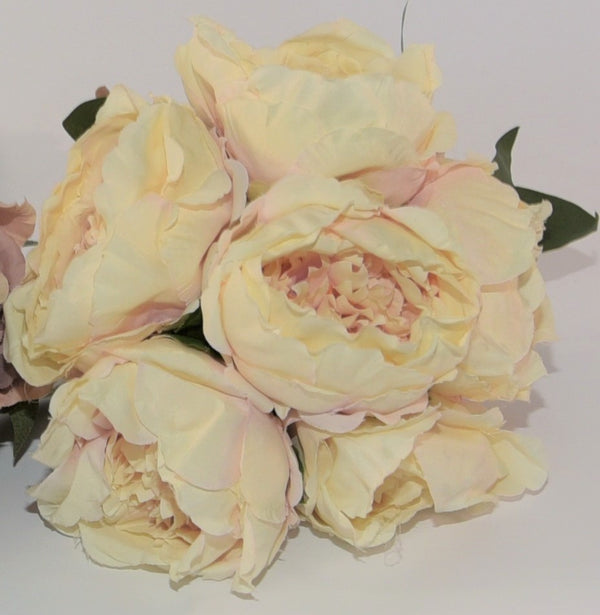 Vintage Coloured Silk Peony Posy