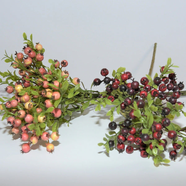 Artificial berry stems