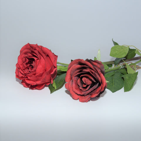Red Silk Rose Single Stem