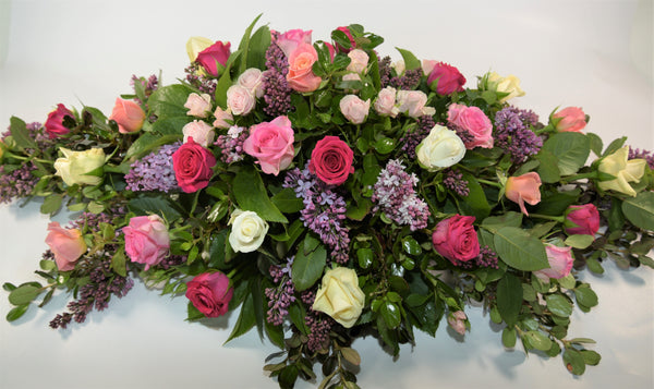 Mixed Rose Casket Spray