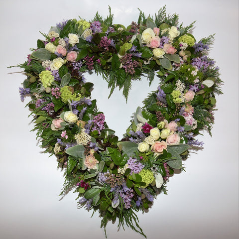 Pastel Heart Wreath