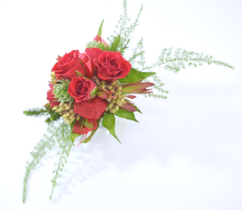 Red Mini Rose Corsages