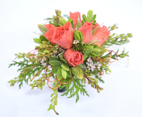 Florist Choice: Earthy Orange Wrist Corsage