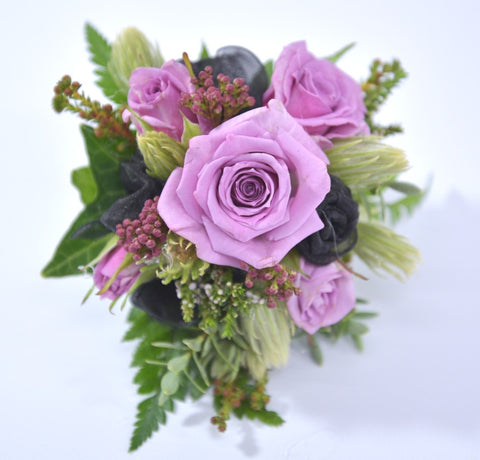 Lilac and Purple Toned Corsages