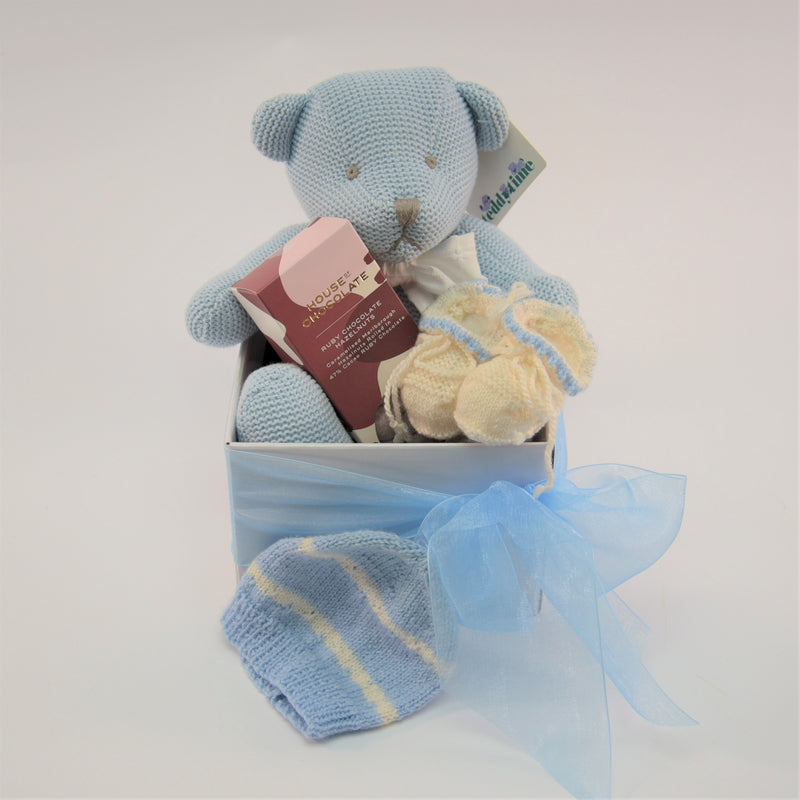 Baby Boy Knitted Gift Box