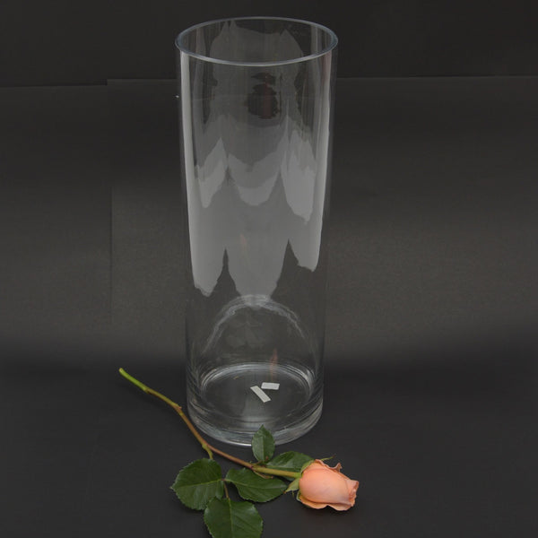 Cylindrical Glass Vase 30cm