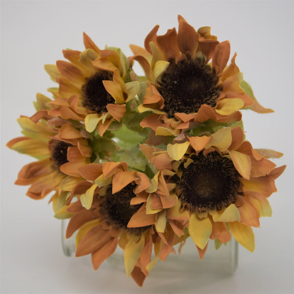 Bunches of autumn toned Sunflowers