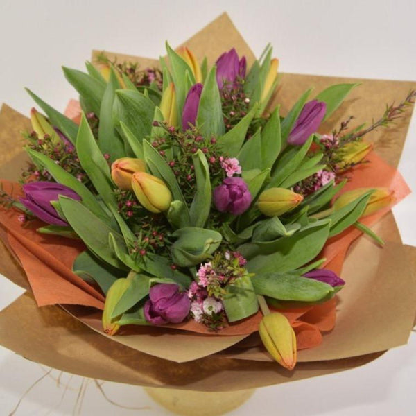 Tulips in Brown Paper