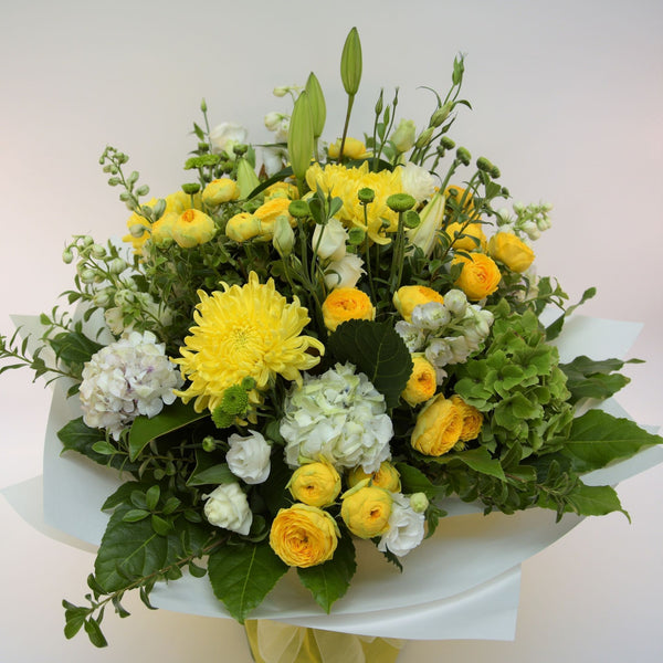 Florist Choice: Yellow Bouquet or Water Box