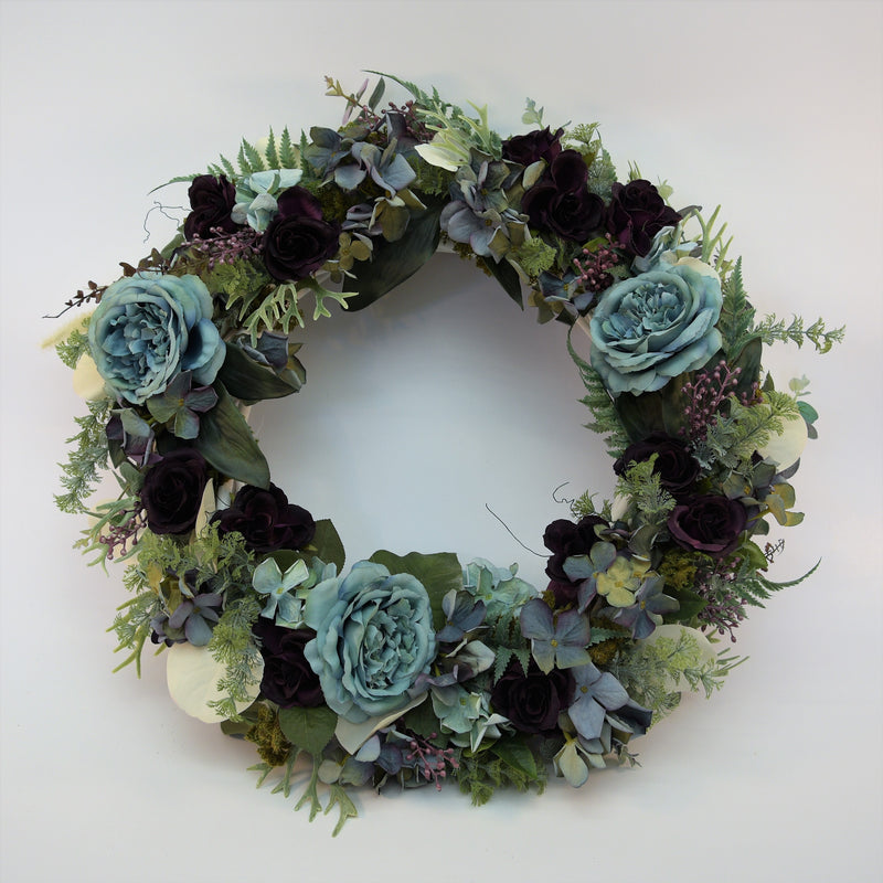Blue and Purple Everlasting Wreath