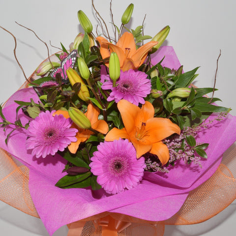 Florist Choice: Pink and Orange Bouquet or Waterbox