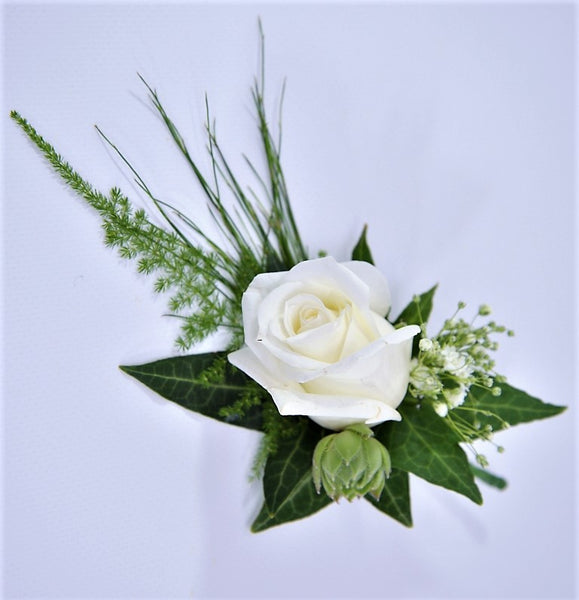 Florist Choice: White Buttonhole