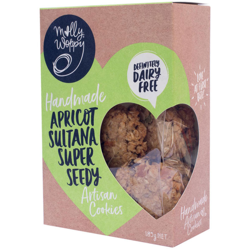 Apricot Sultana Super Seedy Artisan Cookie (DF)