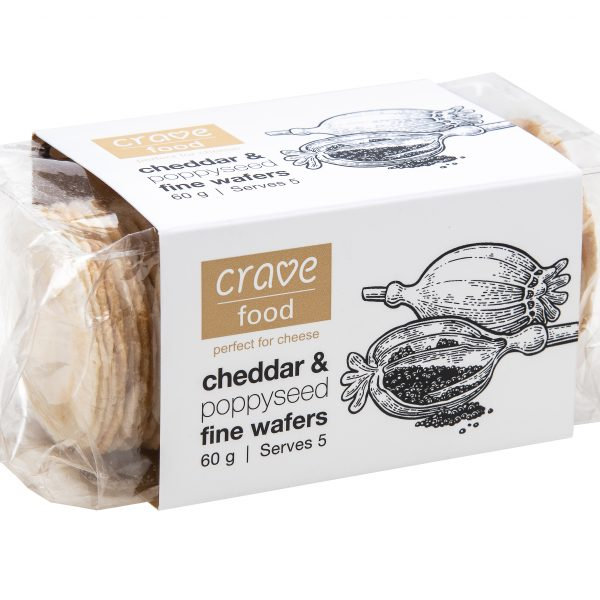 Crave Cheddar & Poppyseed Fine Wafers