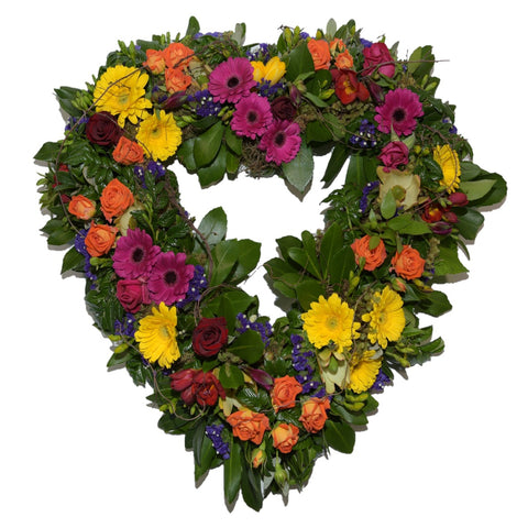 Colourful Heart Wreath