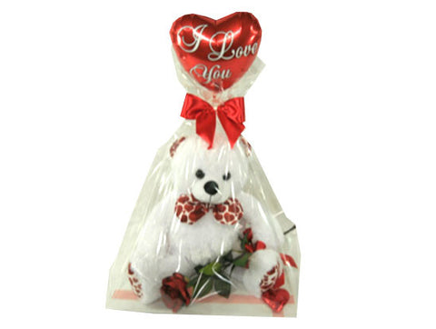 Heart Teddy Rose Balloon