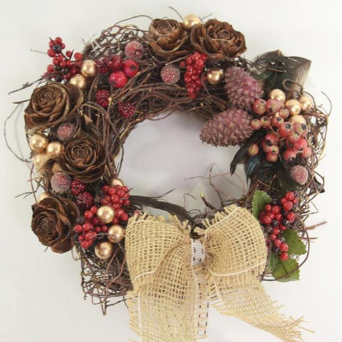 Florist's choice: Handmade Woodland Wreath
