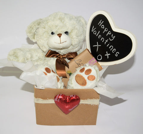 Archie bear and gifts