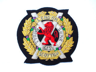 London Scottish Regiment Blazer Badges