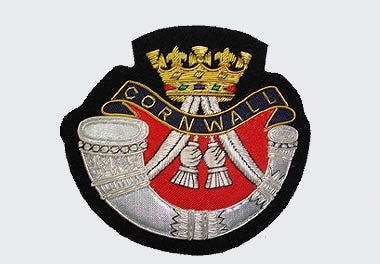 Cornwall Light Infantry Bullion Wire Blazer Badge