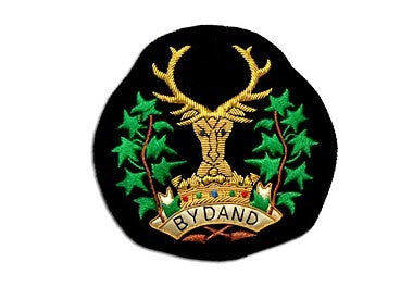Gordon Highlanders Bullion Wire Blazer Badge