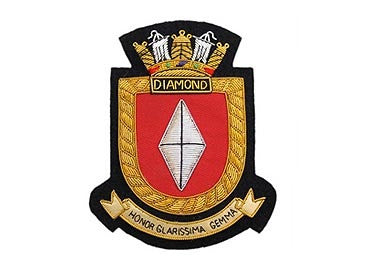 HMS Diamond Bullion Wire Blazer Badge