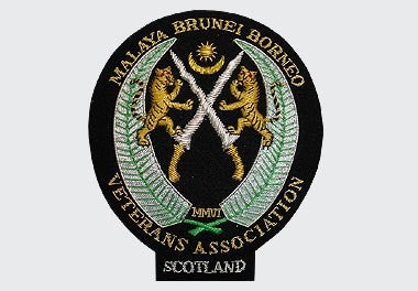 Malaya Brunei Borneo Bullion Wire Blazer Badge